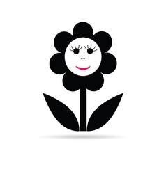 Flower happy smile vector