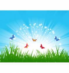 butterfly landscape vector image