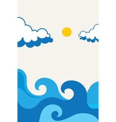 Waves beach design vector