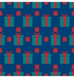 Seamless pattern of boxes with gifts vector
