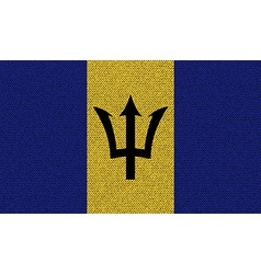 Flags barbados on denim texture vector