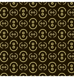 Dots waves pattern vector