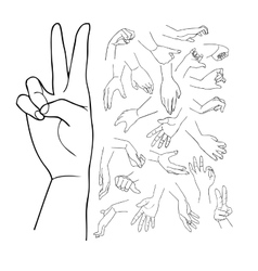 Hands set part 1 vector