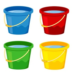 Buckets vector image