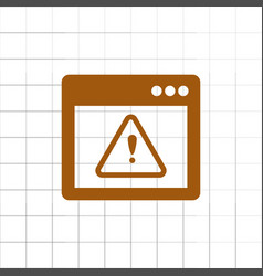 Application warning color icons on sunk push vector