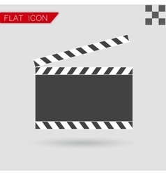 Art film clapper board icon flat style vector