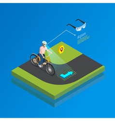 Augmented reality navigation gadget isometric vector