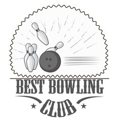 bowling club logos and pictures vector image vector image
