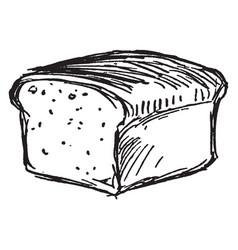 Bread loaf vintage vector
