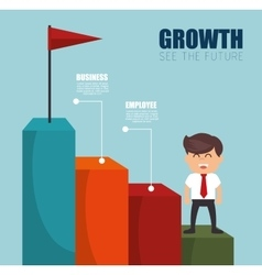 Businesman see the future success vector