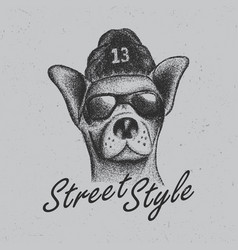 Chihuahua street style poster vector