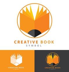 Creative book icon vector