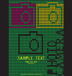 Cute card dots camera design in format vector