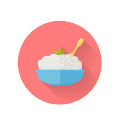dairy dish in flat design vector image vector image