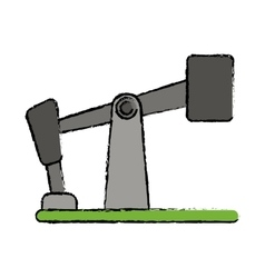 Drawn oil pump drilling petroleum industry vector