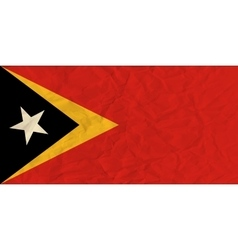 East timor paper flag vector
