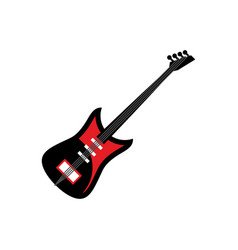 Electric guitar isolated musical instruments on vector