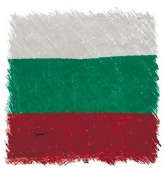 Flag of Bulgaria handmade square shape vector image vector image