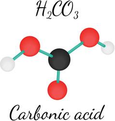 H2CO3 Carbonic acid molecule vector image vector image