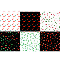 hot chili peppers seamless pattern vector image