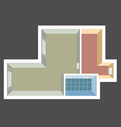 house top view apartment plan vector image vector image