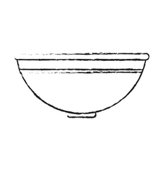 Isolated bowl design vector image vector image