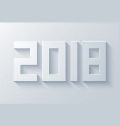 modern 2018 happy new year vector image vector image