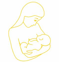 Mother breastfeeding baby vector