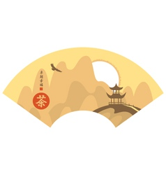 Mountain Chinese vector image vector image
