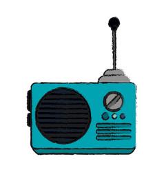 Portable radio icon image vector