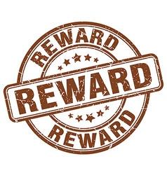 reward brown grunge round vintage rubber stamp vector image