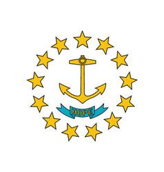rhode island flag vector image