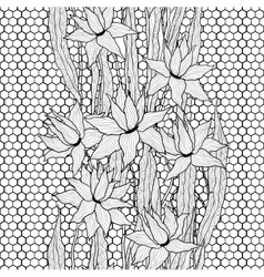 Seamless floral pattern royal lilies vector