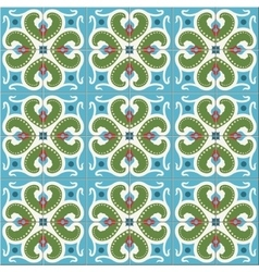 Seamless pattern moroccan portuguese tiles vector