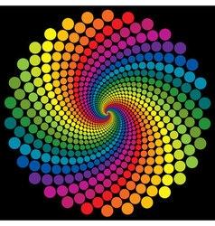 Swirly wallpaper rainbow background vector