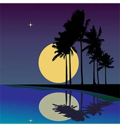 tropical reflections vector image vector image