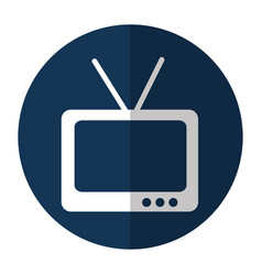 Tv retro isolated icon vector