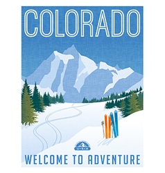 Vintage travel poster or sticker of Colorado vector image