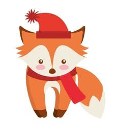 Cute animal with christmas clothes vector