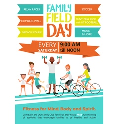 Family fitness template vector