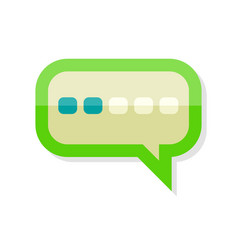 Messaging icon isolated comment dialog discussion vector