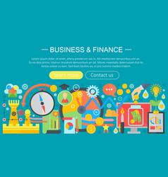 Business and finance banking flat icons concept vector