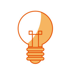 bulb creative idea innovation icon vector image