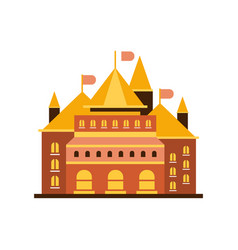 Fairytale royal castle or palace building with vector