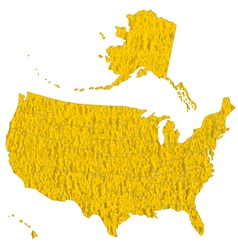 Textured map of usa vector