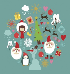 Winter holidays celebration design vector
