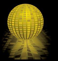 disco ball gold vector image