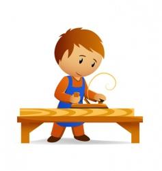 cartoon carpenter vector image