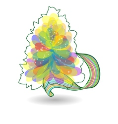 Multicolor christmas tree vector