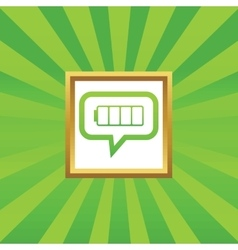 Empty battery message picture icon vector